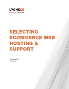 selecting ecommerce web hosting and support