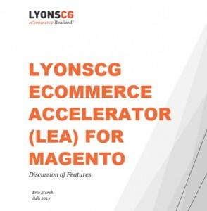 LYONSCG eCommerce Accelerator for Magento White Paper
