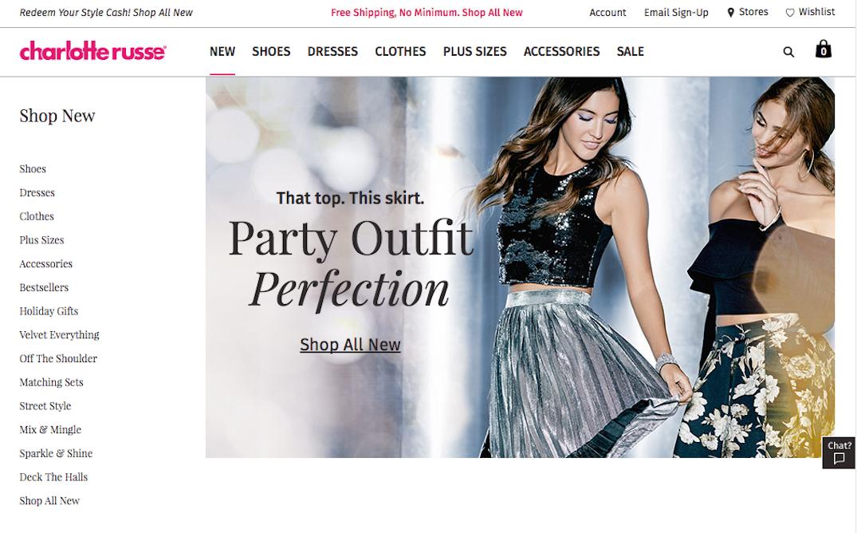 Charlotte Russe Website