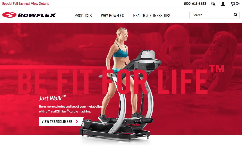 Bowflex eCommerce Site