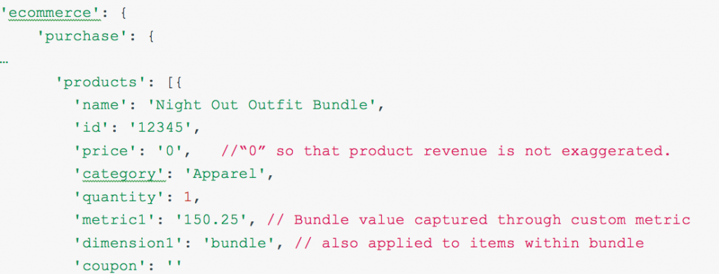 tracking product bundles